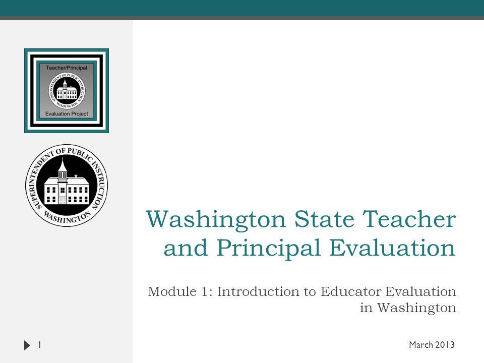 Washington State Teacher and Principal Evaluation
