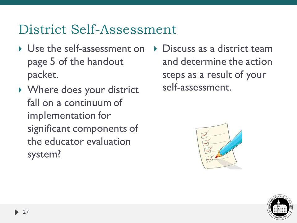 District Self-Assessment