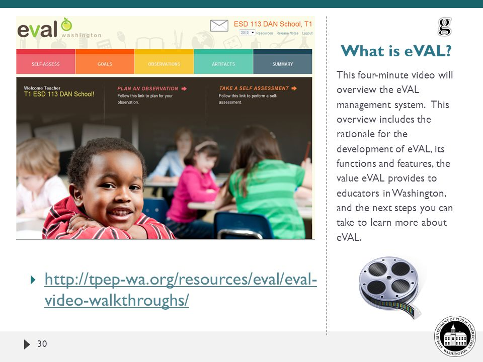 g http://tpep-wa.org/resources/eval/eval- video-walkthroughs/