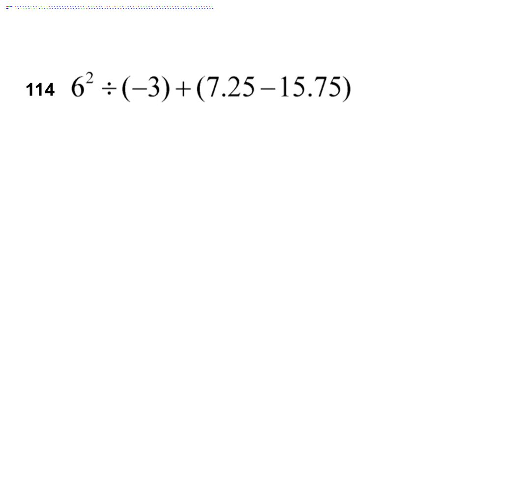 114 Answer: -20.50