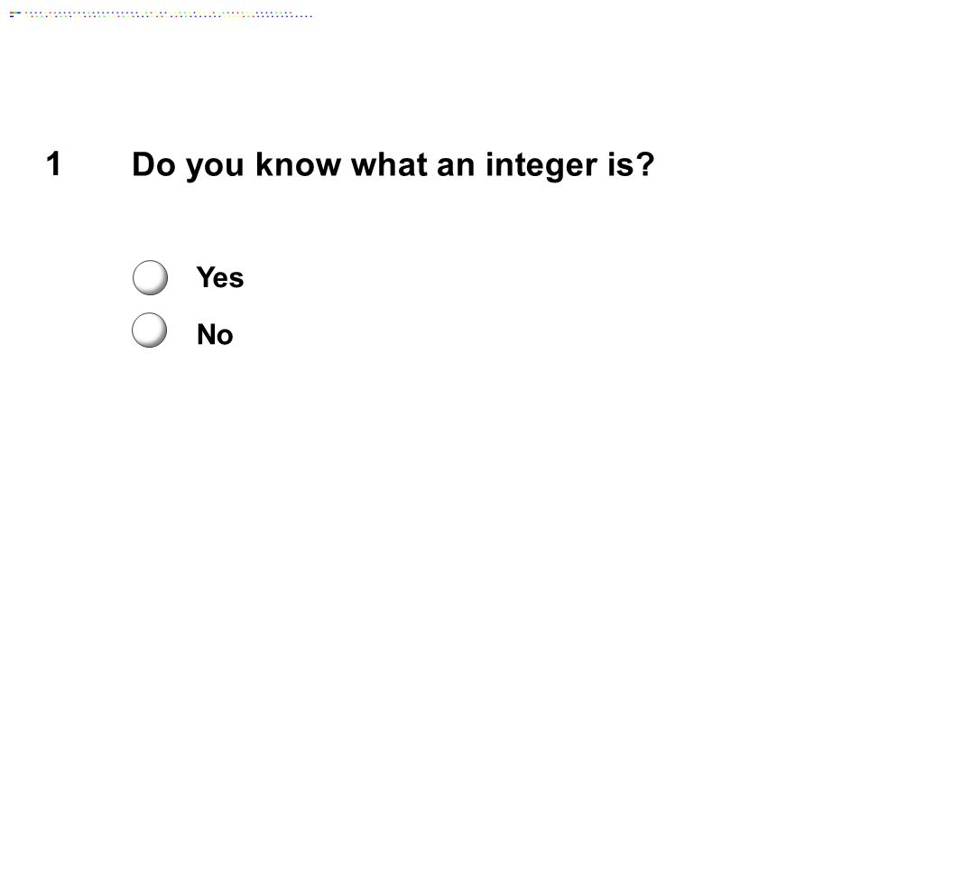 Do you know what an integer is