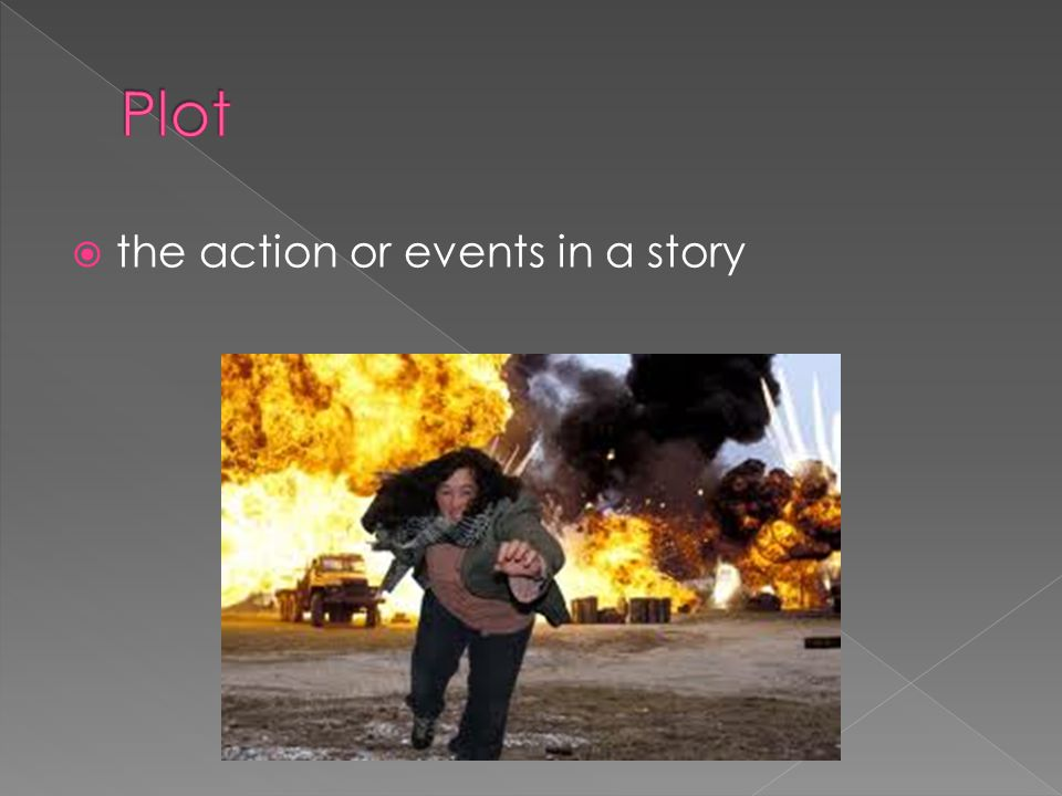 Plot the action or events in a story