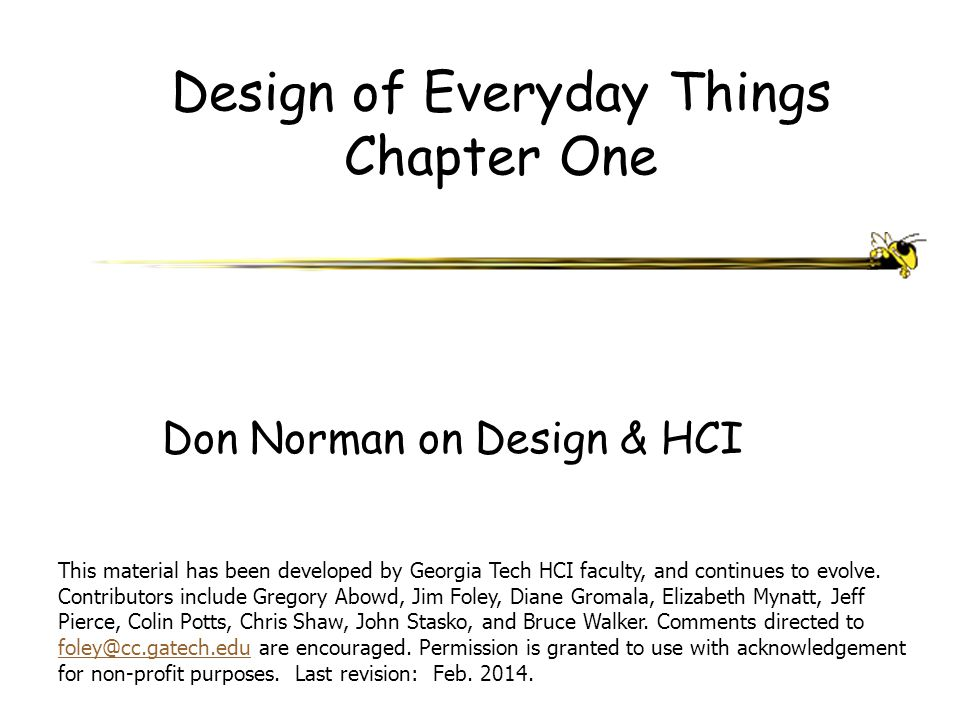 Design of Everyday Things Chapter One