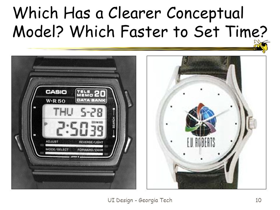 Which Has a Clearer Conceptual Model Which Faster to Set Time