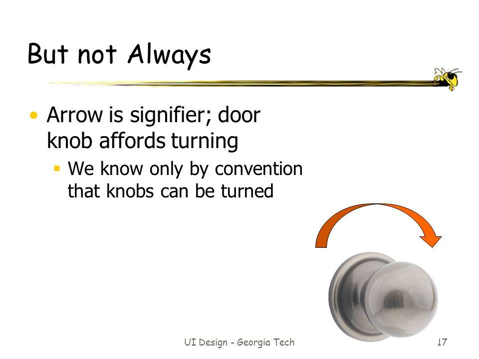 UI Design - Georgia Tech