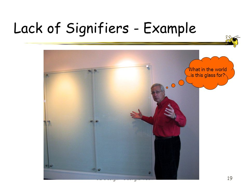 Lack of Signifiers - Example