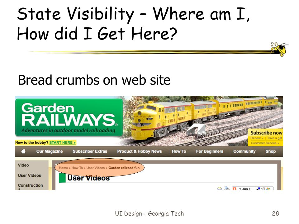 State Visibility – Where am I, How did I Get Here