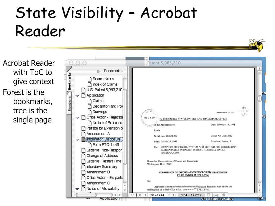 State Visibility – Acrobat Reader