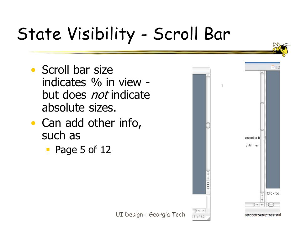 State Visibility - Scroll Bar