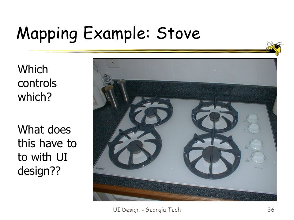 Mapping Example: Stove
