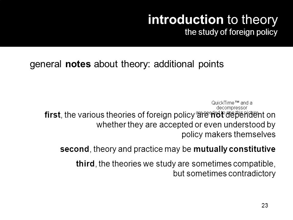 introduction to theory the study of foreign policy