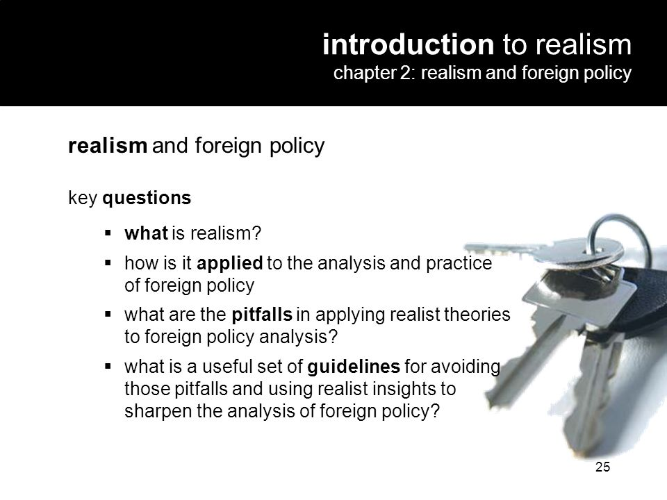 introduction to realism chapter 2: realism and foreign policy