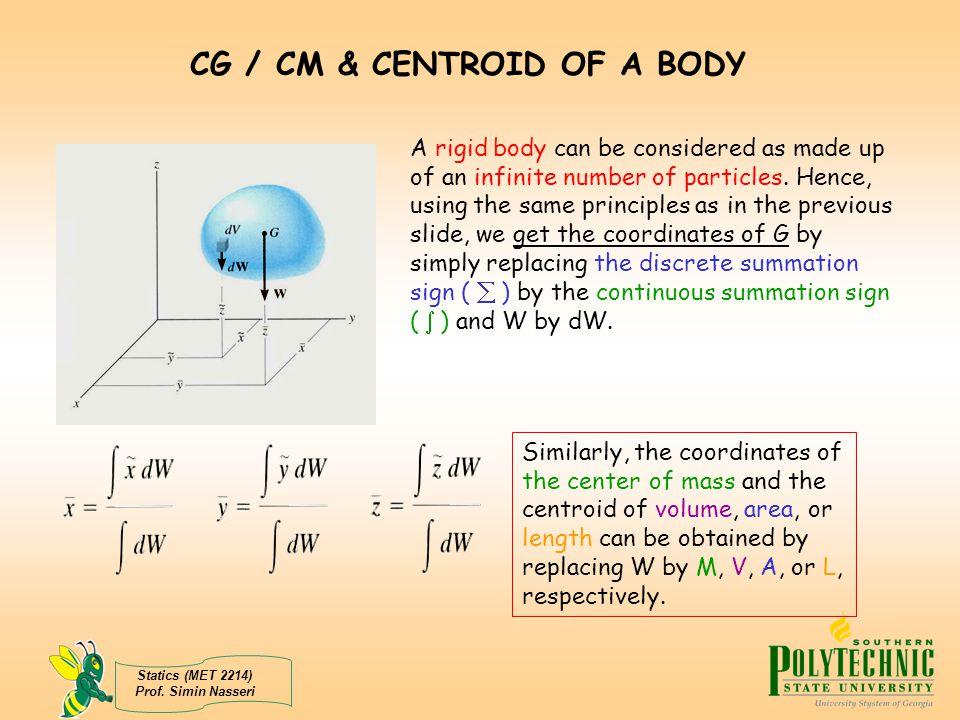 CG / CM & CENTROID OF A BODY
