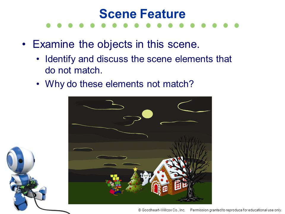 Scene Feature Examine the objects in this scene.