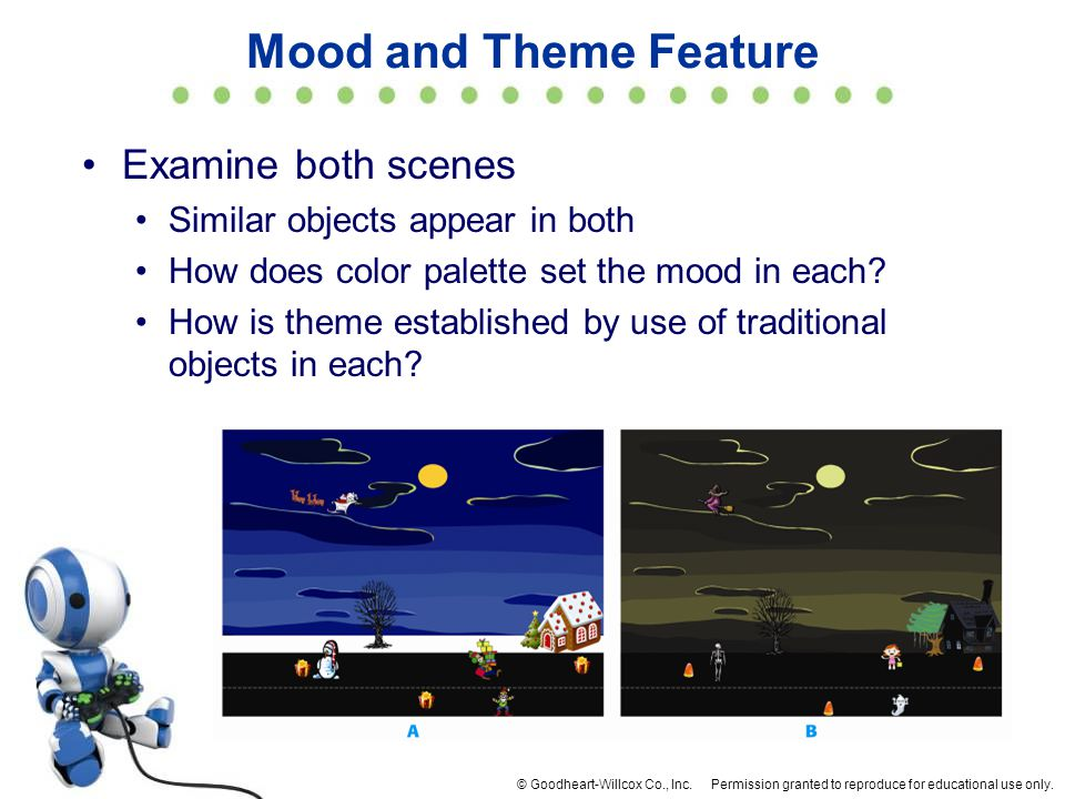 Mood and Theme Feature Examine both scenes