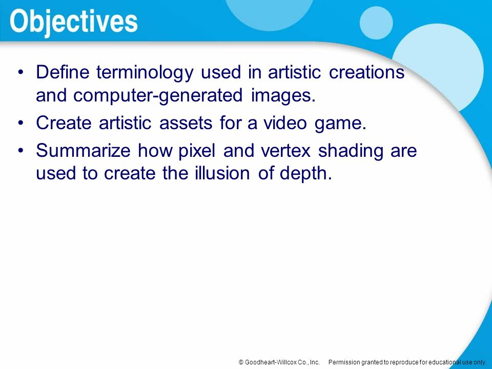Define terminology used in artistic creations and computer-generated images.