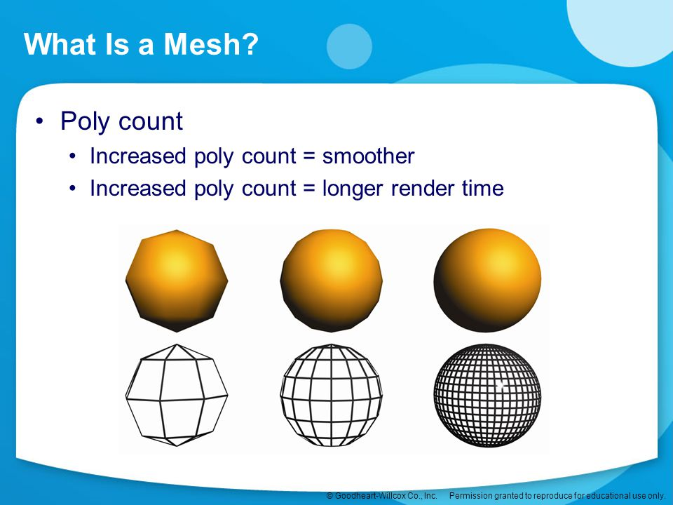What Is a Mesh Poly count Increased poly count = smoother