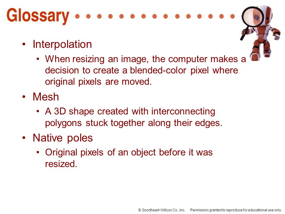 Interpolation Mesh Native poles