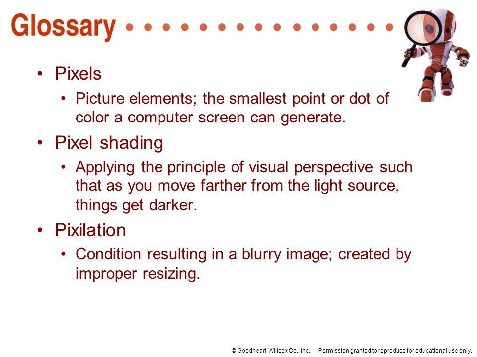 Pixels Pixel shading Pixilation