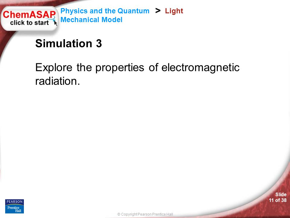 Explore the properties of electromagnetic radiation.