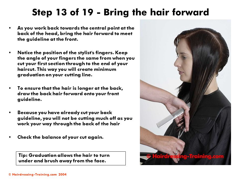 Step 13 of 19 - Bring the hair forward