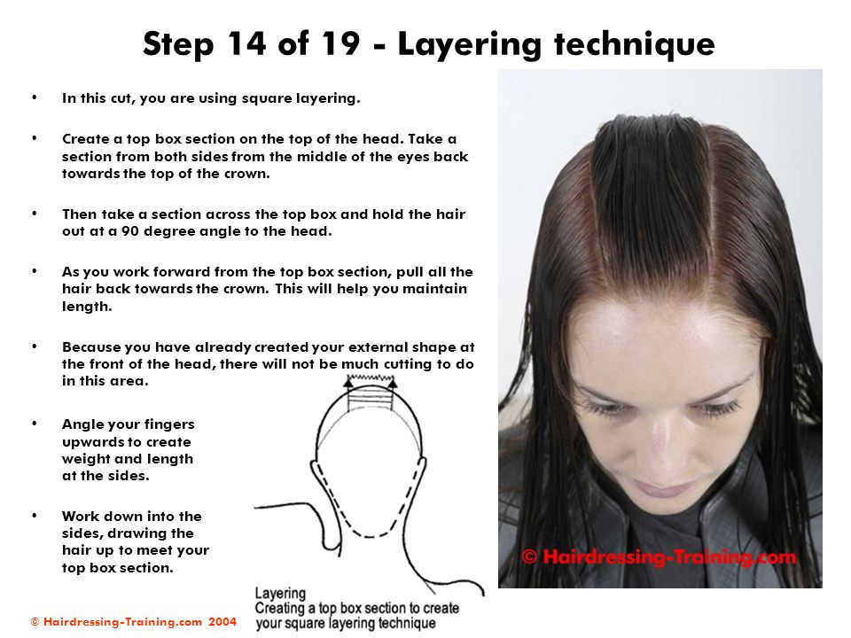 Step 14 of 19 - Layering technique