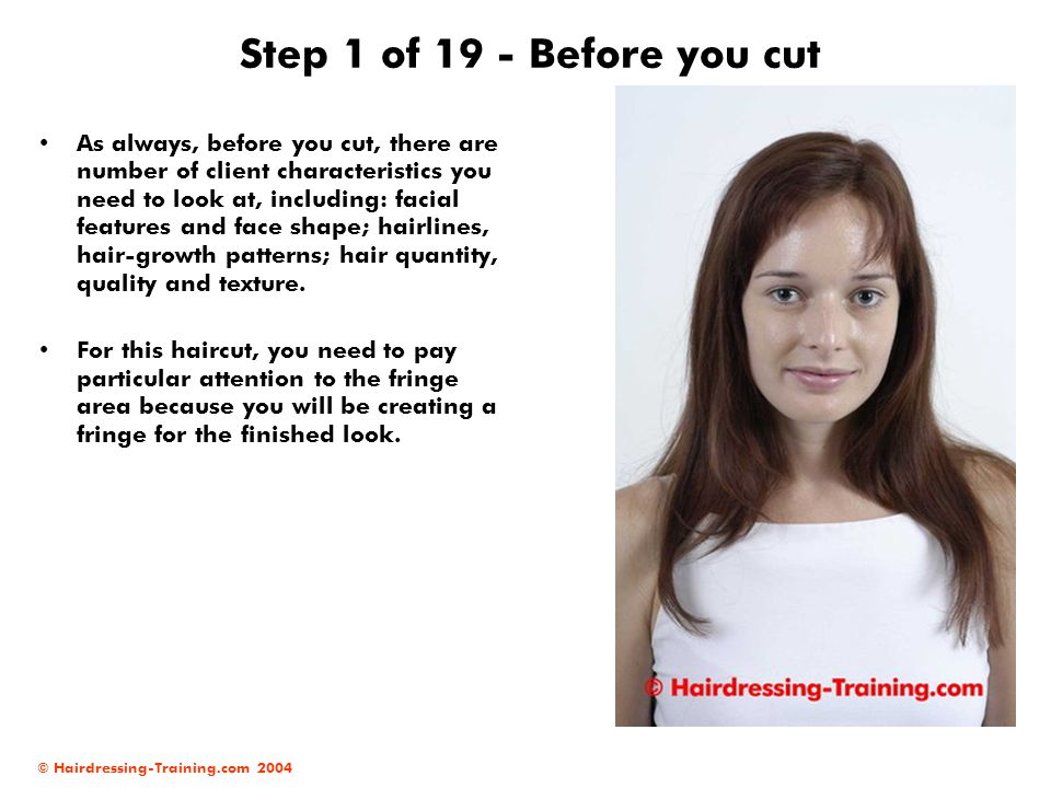 Step 1 of 19 - Before you cut