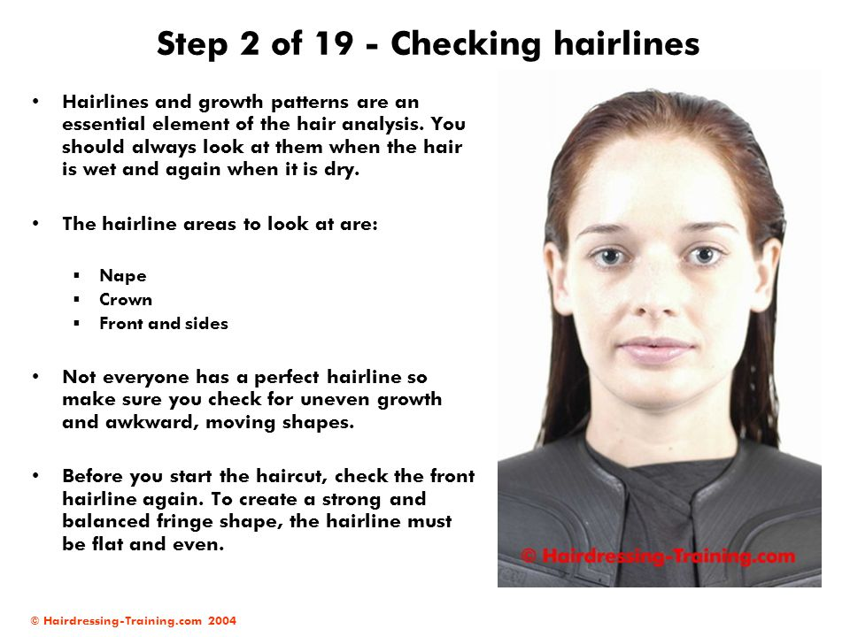 Step 2 of 19 - Checking hairlines