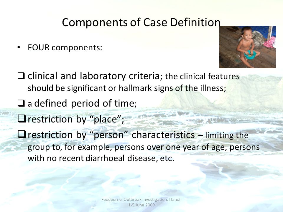 Components of Case Definition