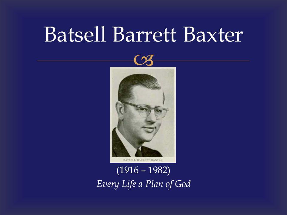 Batsell Barrett Baxter
