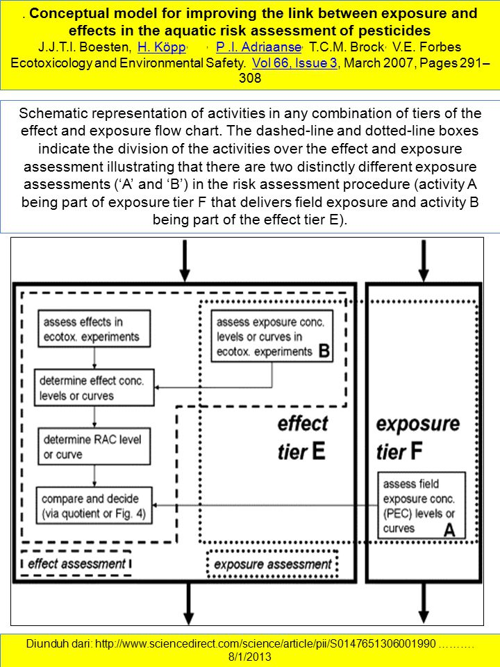 . Conceptual model for improving the link between exposure and effects in the aquatic risk assessment of pesticides