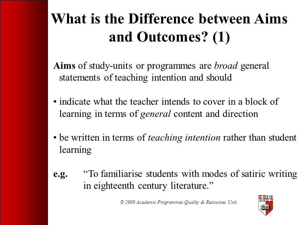 What is the Difference between Aims and Outcomes (1)