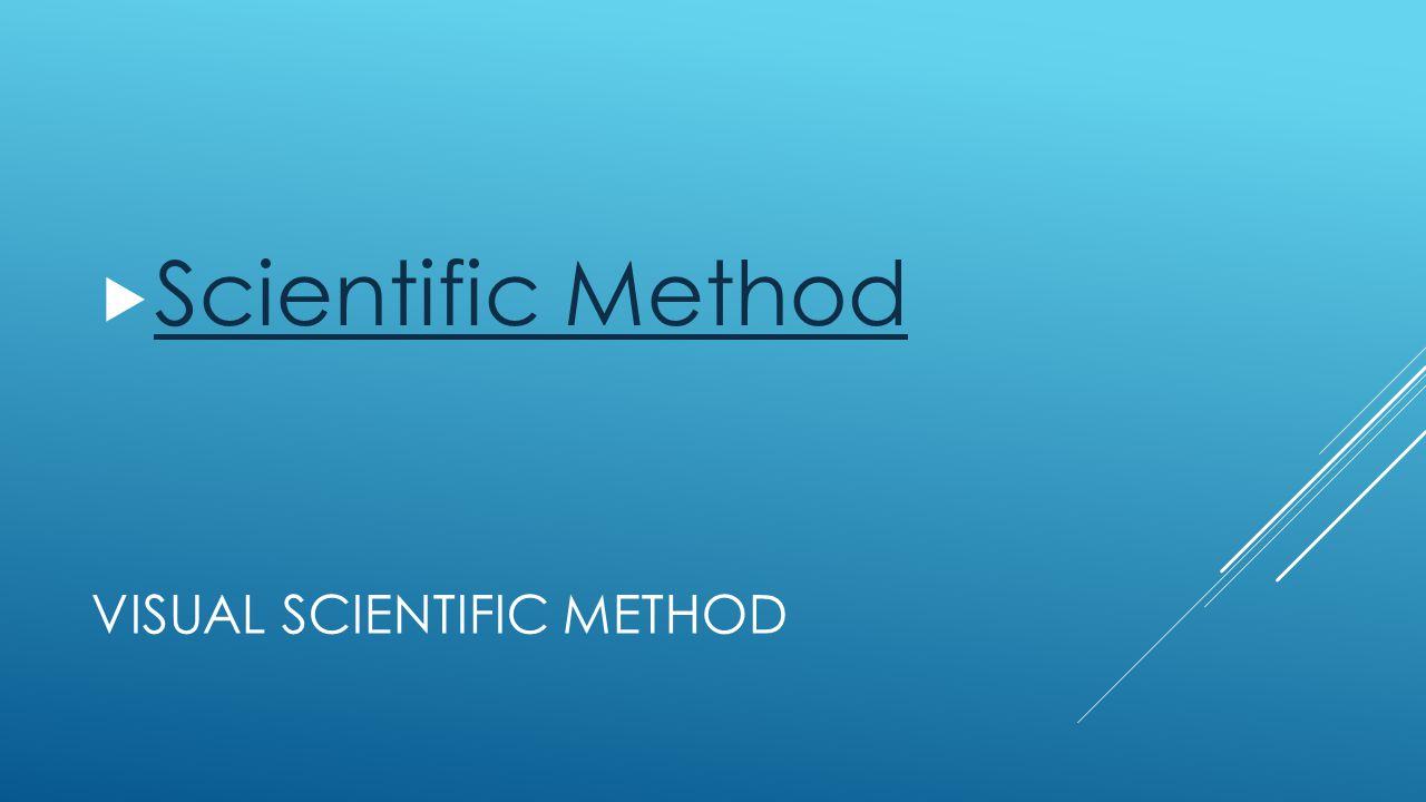 VISUAL SCIENTIFIC METHOD