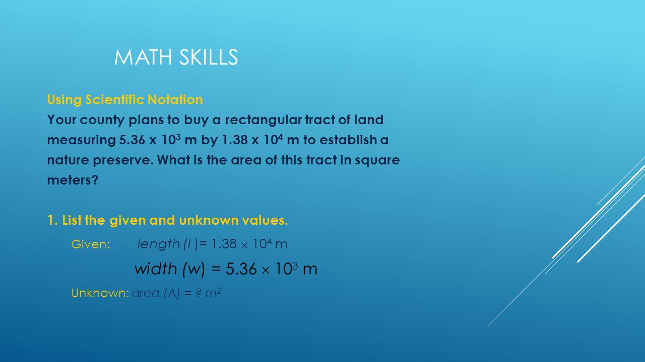 Math Skills Using Scientific Notation