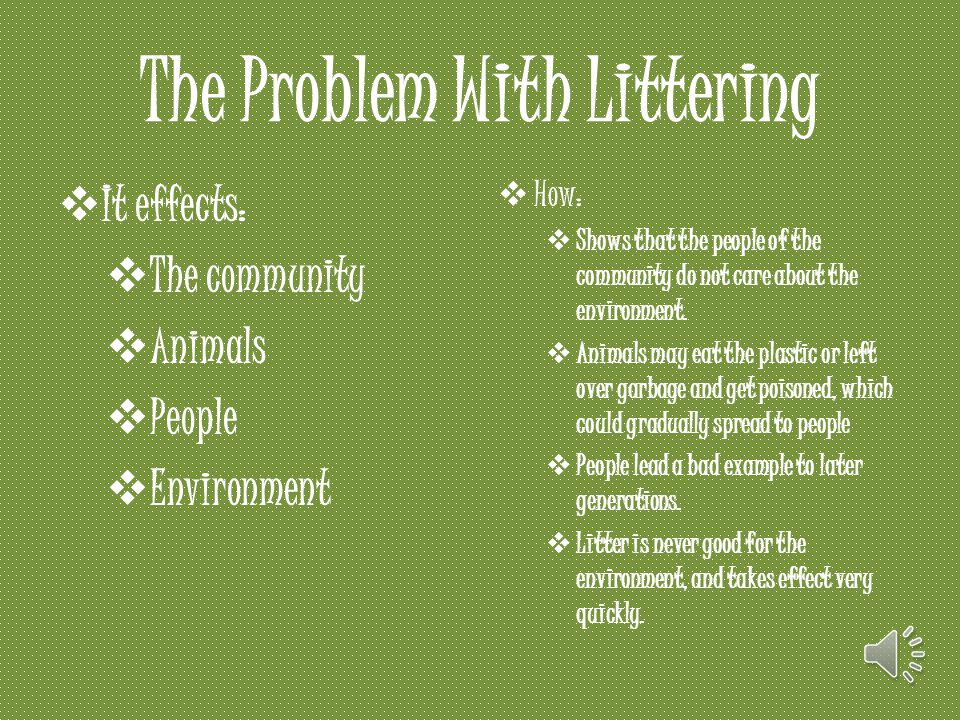 The Problem With Littering