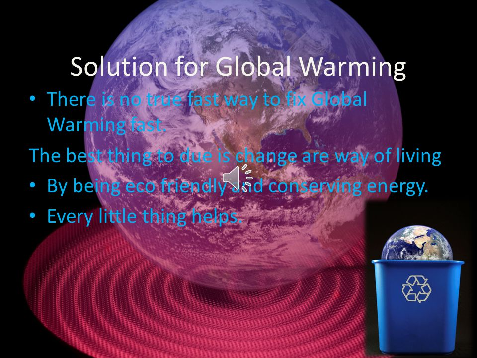 Solution for Global Warming