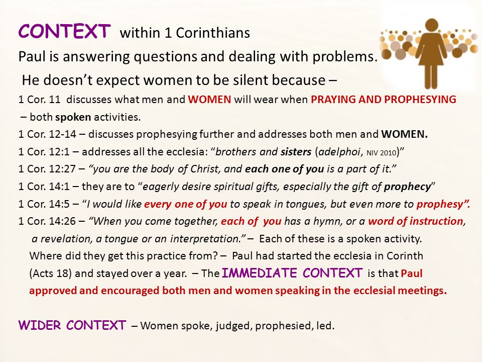 CONTEXT within 1 Corinthians