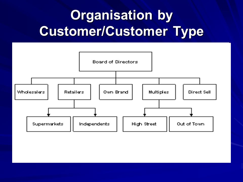 Organisation by Customer/Customer Type