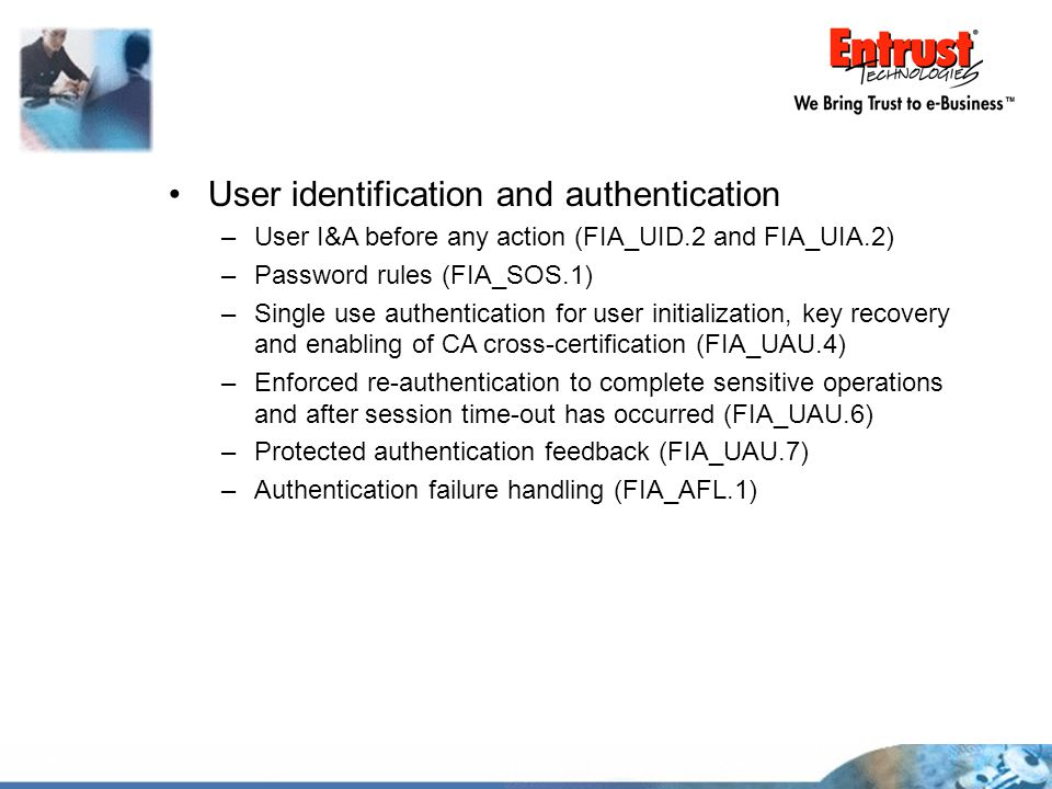 User identification and authentication