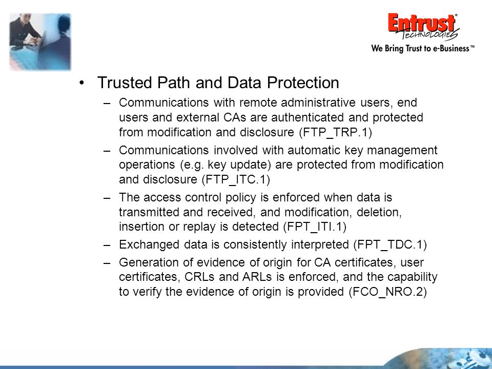 Trusted Path and Data Protection