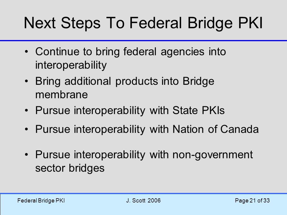 Next Steps To Federal Bridge PKI