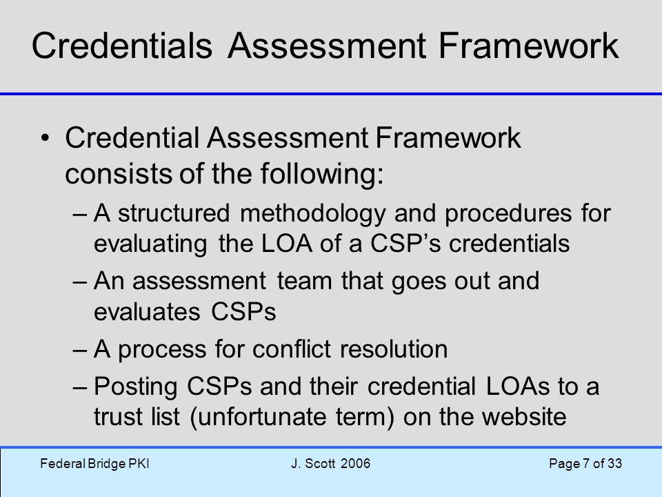 Credentials Assessment Framework