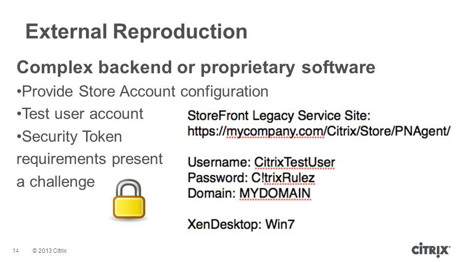 External Reproduction