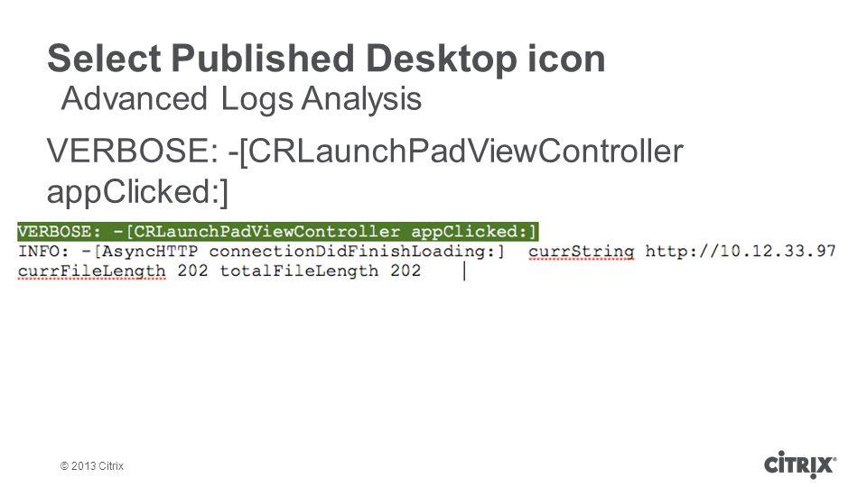 Select Published Desktop icon