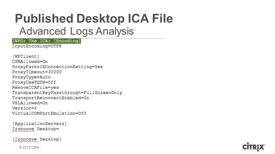Published Desktop ICA File