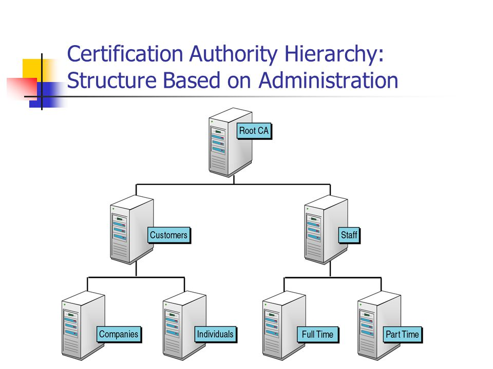 Certification Authority Hierarchy: Structure Based on Administration