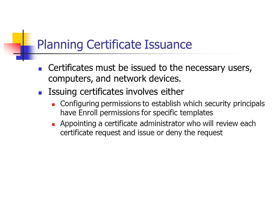 Planning Certificate Issuance