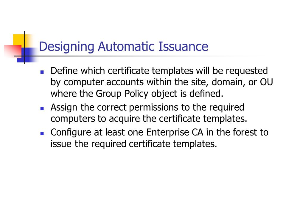 Designing Automatic Issuance