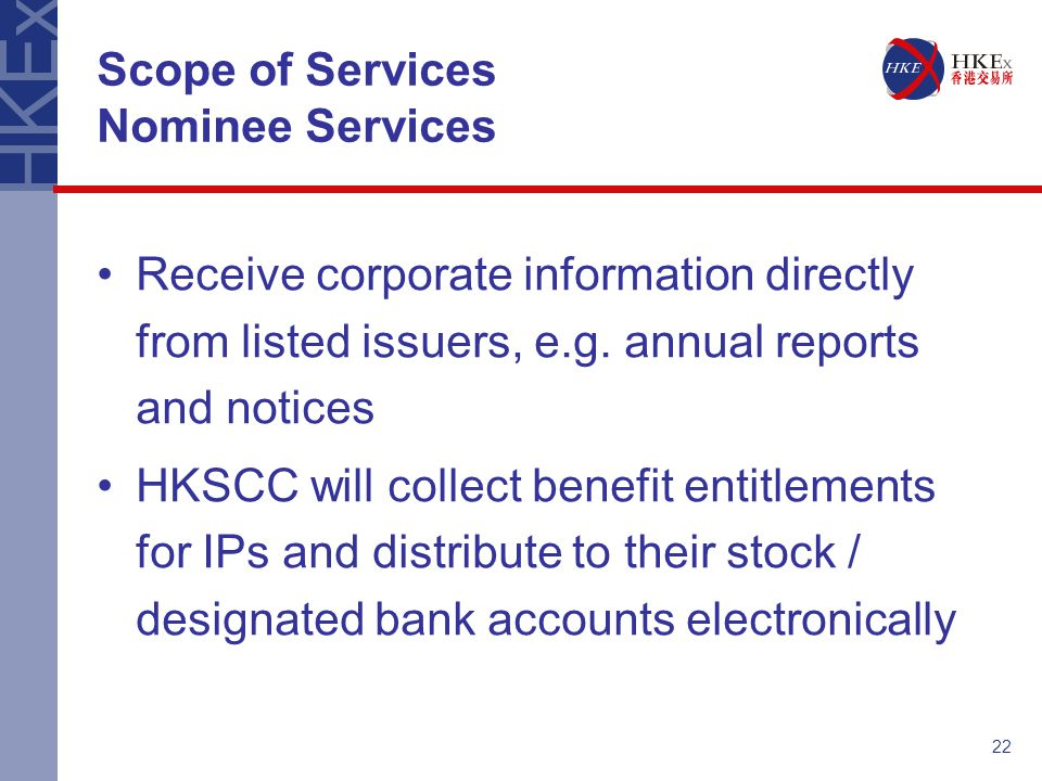 Scope of Services Nominee Services