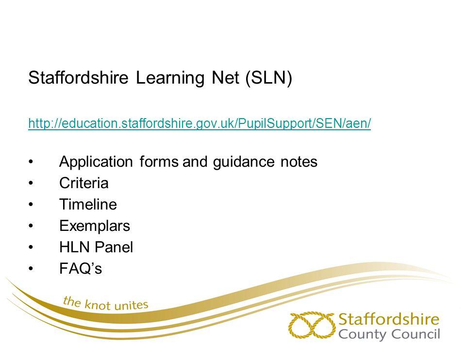Staffordshire Learning Net (SLN)